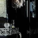 Dramatic Black Guest Bathroom