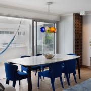 Atlantic Views Sea Point apartment interior renovation by Jenny Mills Architects - Dining Area
