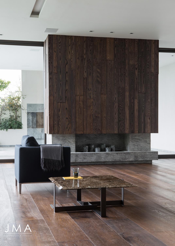 Avenue Fresnaye Villa Lounge Area - Interior Architectural design by Jenny Mills Architects