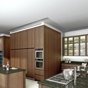Avenue Fresnaye Villa Main Kitchen Render - Interior Architectural design by Jenny Mills Architects
