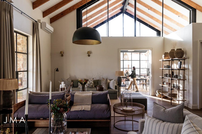 Cederberg Ridge Lodge Living Area - Design by Jenny Mills Architects