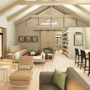 Cederberg Ridge Lodge Lounge View design and render by Jenny Mills Architects