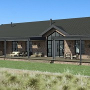 Cederberg Ridge Lodge Design & External render by Jenny Mills Architects