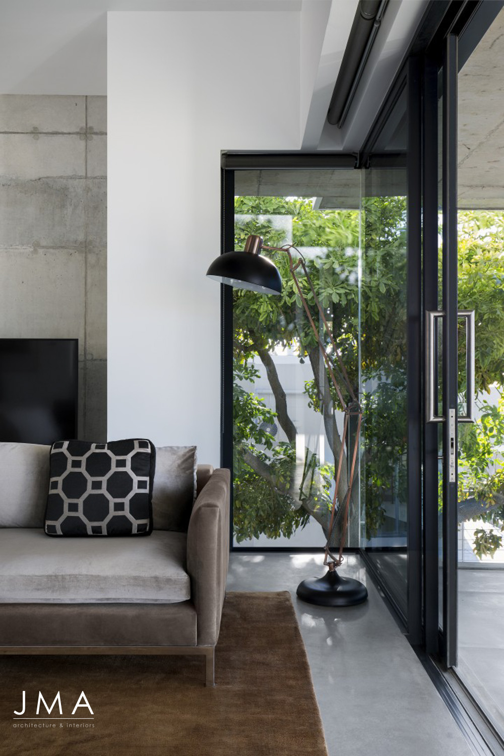 Contemporary Bedroom Living Area designed by JMA at Fresnaye Pool Penthouse.jpg