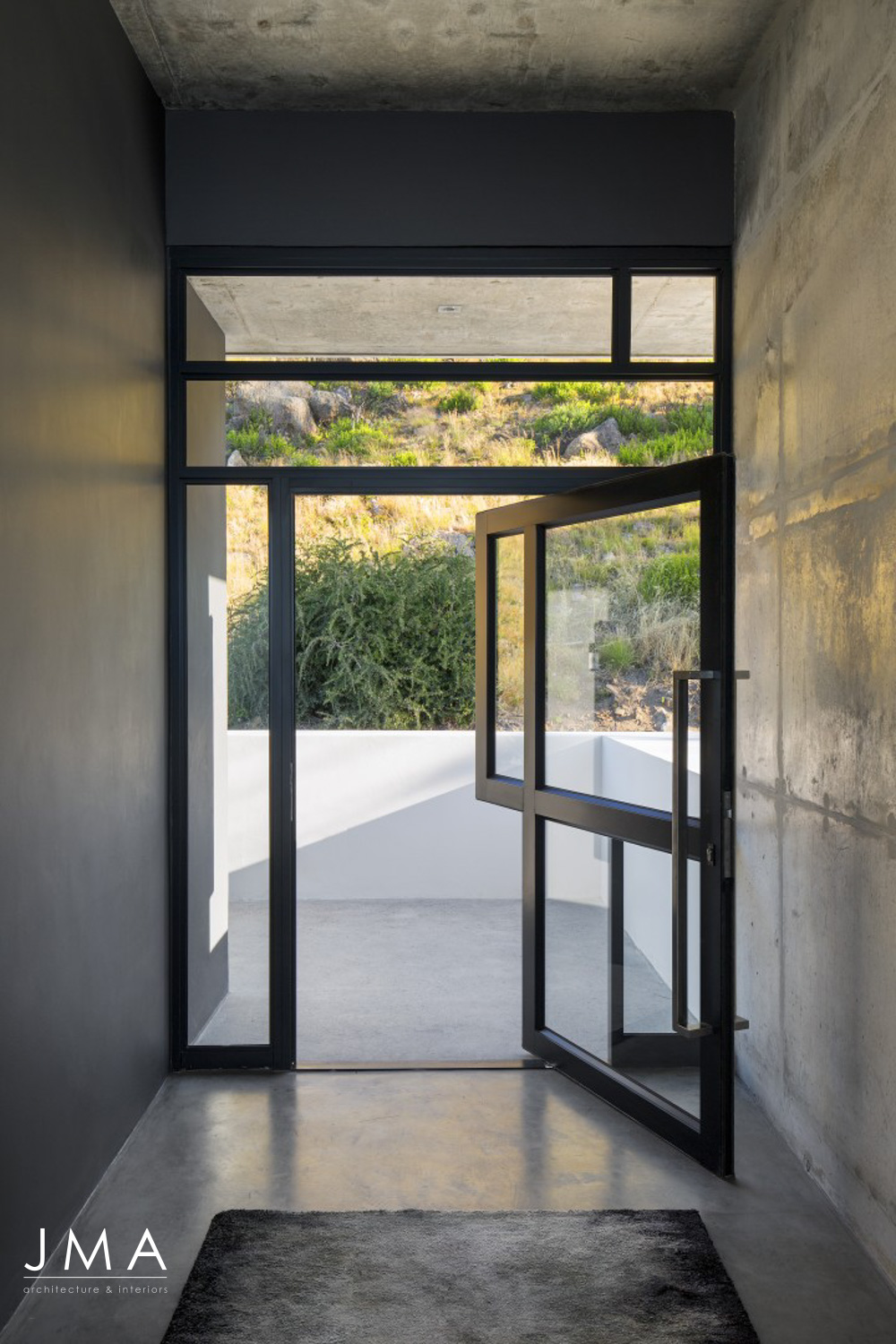 Pool Penthouse Entrance interior architecture design in Fresnaye