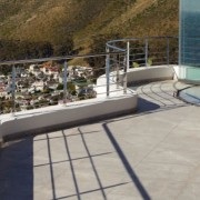 Cantilevered balcony view