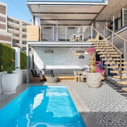 Greenpoint Home redesign by Jenny Mills Architects - Pool & Outdoor Living Area