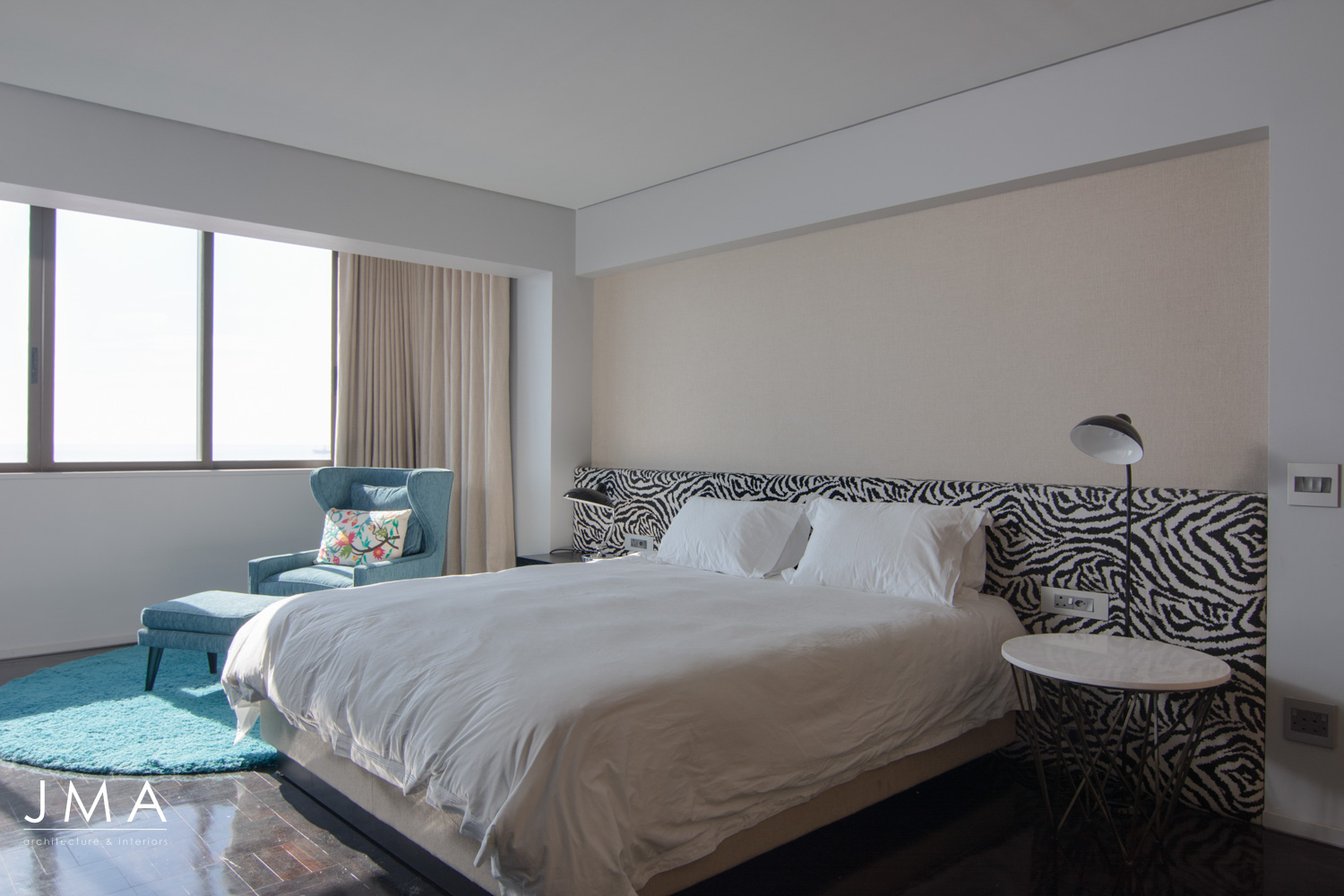 Sea Point Apartment Architecture & Interior Design by Jenny Mills Architects - Master Bedroom View 2