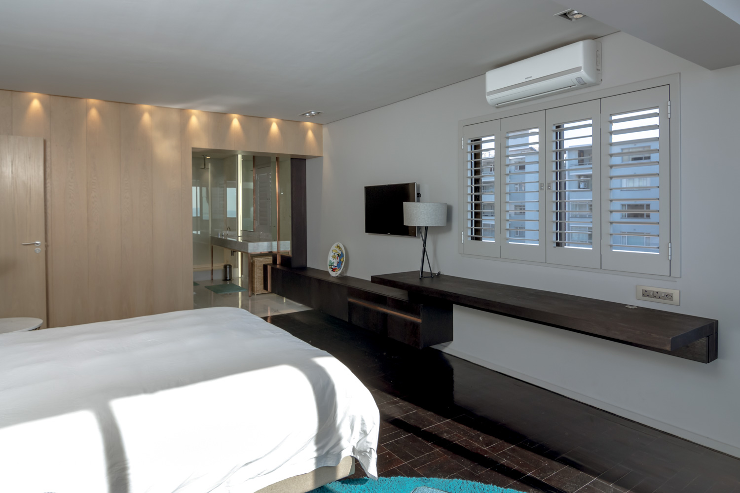 Sea Point Apartment Architecture & Interior Design by Jenny Mills Architects - Master Bedroom View 3