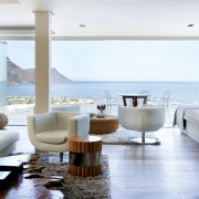 Suspended Clifton Apartment Living Area design by Jenny Mills Architects - View from Sitting Room