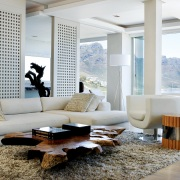 Suspended Clifton Apartment Living Area design by Jenny Mills Architects - Sitting Room with views