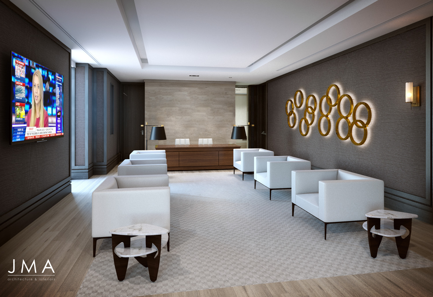 Windhoek Managing Directors Reception interior design by Jenny Mills Architects