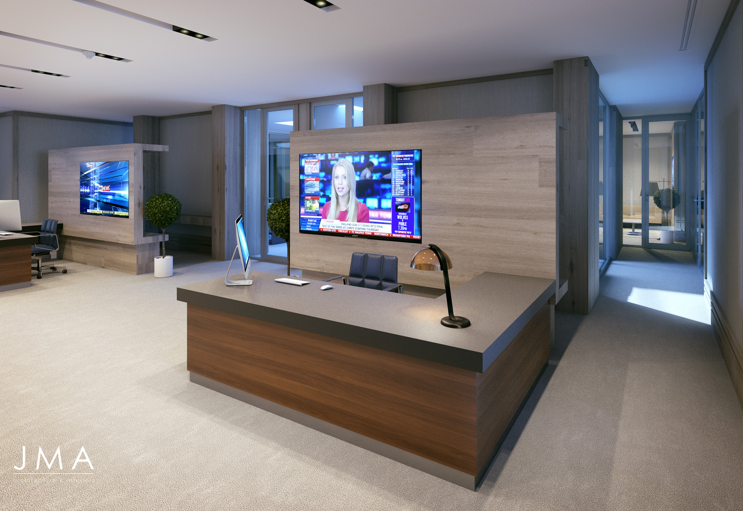Windhoek Office - Advisors Reception Area - interior design by Jenny Mills Architects
