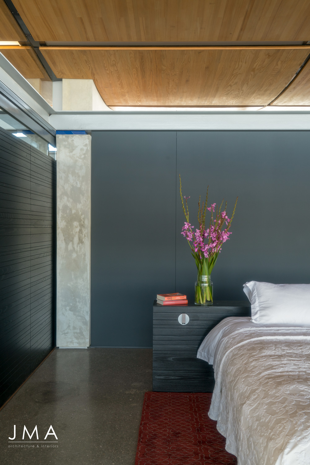 Contemporary Beach House Bedroom Detail