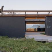Contemporary Beach House Dramatic Entrance