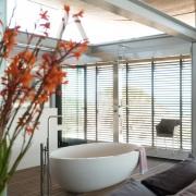 Contemporary Beach House Bathroom Open Plan