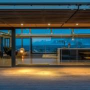 Contemporary Beach House View Through Kitchen to Beyond
