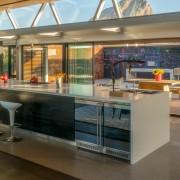 Contemporary Beach House Kitchen to Courtyard