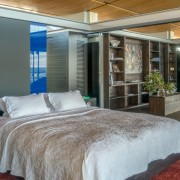 Contemporary Beach House Bedroom to Study