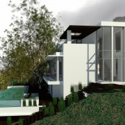 Llandudno Residential Architectural design & render by Jenny Mills Architects - GF Level View 4