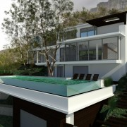 Llandudno Residential Architectural design & render by Jenny Mills Architects - Main View 3 with trees