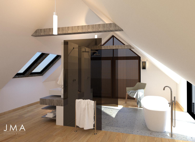Noordhoek Valley Estate residential design and render by Jenny Mills Architects - Render View (Internal) - Bathroom