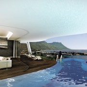 Jenny Mills Architects designed development in Victoria Road Cape Town - living level full 3D View render