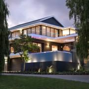 Evening Exterior Architectural Features