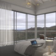 Welgedacht Villa Bedroom Render - Interior Architectural design by Jenny Mills Architects
