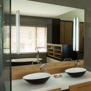 Welgedacht Villa bathroom view 2 - interior architectural design by Jenny Mills Architects