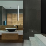 Welgedacht Villa bathroom view 1 - interior architectural design by Jenny Mills Architects