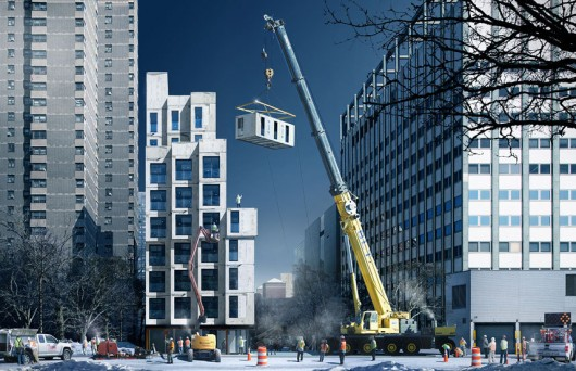 "New York to Complete First Prefabricated ""Micro-Apartments"" this Year"